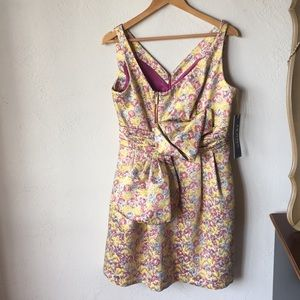 Zac Posen for Target Dresses - Pink & gold floral formal dress with bow & zippers